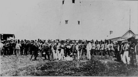 Opening of the Bluff Lighthouse, Durban, Natal, January 1867.