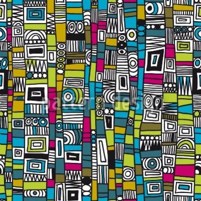 Hochqualitative Vektor-Muster auf patterndesigns.com - Grafisches-Design-mit-Linien-und-Kreisen, designed by Martina Kramer