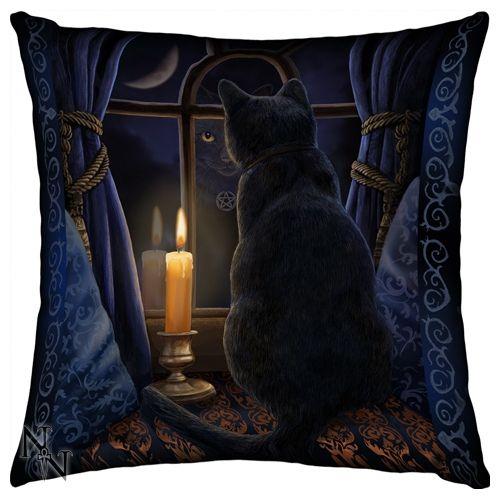 Lisa Parker Cushion, Midnight Vigil Gothic Cat Cushion