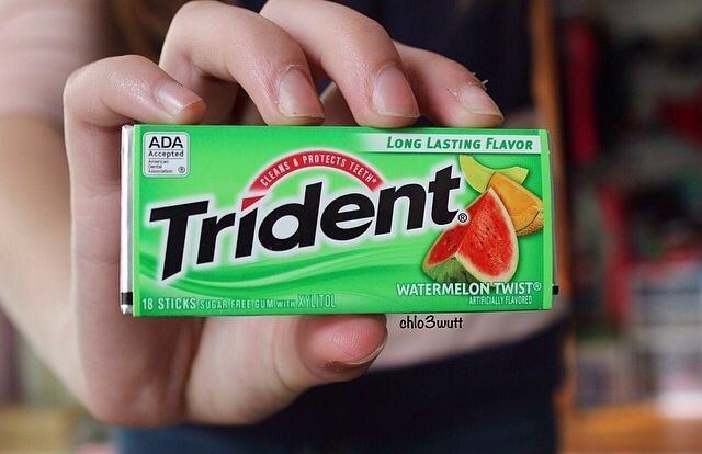 Question of the Day: what is your favorite gum flavor? ♡ 8-20-14 mine is extra watermelon!