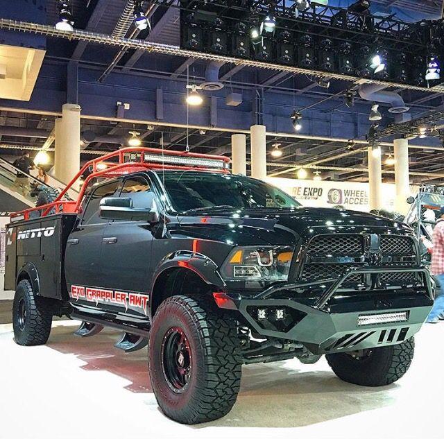 SEMA chase truck | Dodge ram, Work truck, Pickup trucks bed