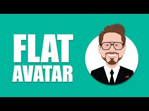Adobe Illustrator CC tutorial: How to design a Flat Avatar or Icon from your image - YouTube