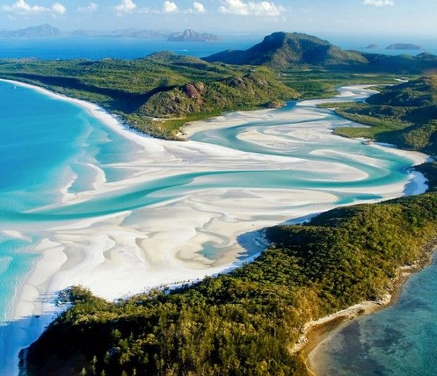 Amazing Places Around the World: Whitehaven Beach, Queensland, Australia. I want to go to there... again!