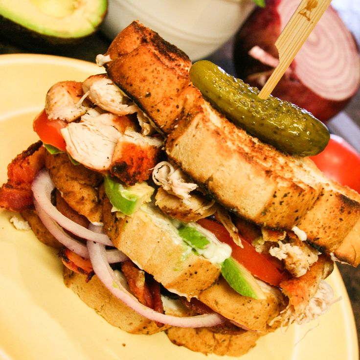 It was one of those days...when you are craving a sandwich, and not just any sandwich, but the perfect Chicken Club Sandwich!