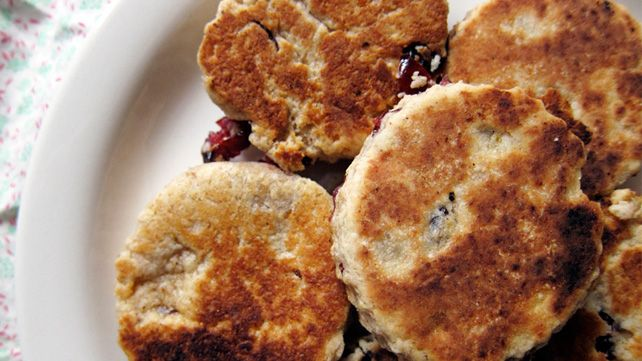 Homemade Welsh Cakes with orange butter