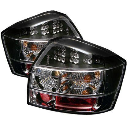 2002-2005 Audi A4 (Sedan Only) LED Tail Lights - Black