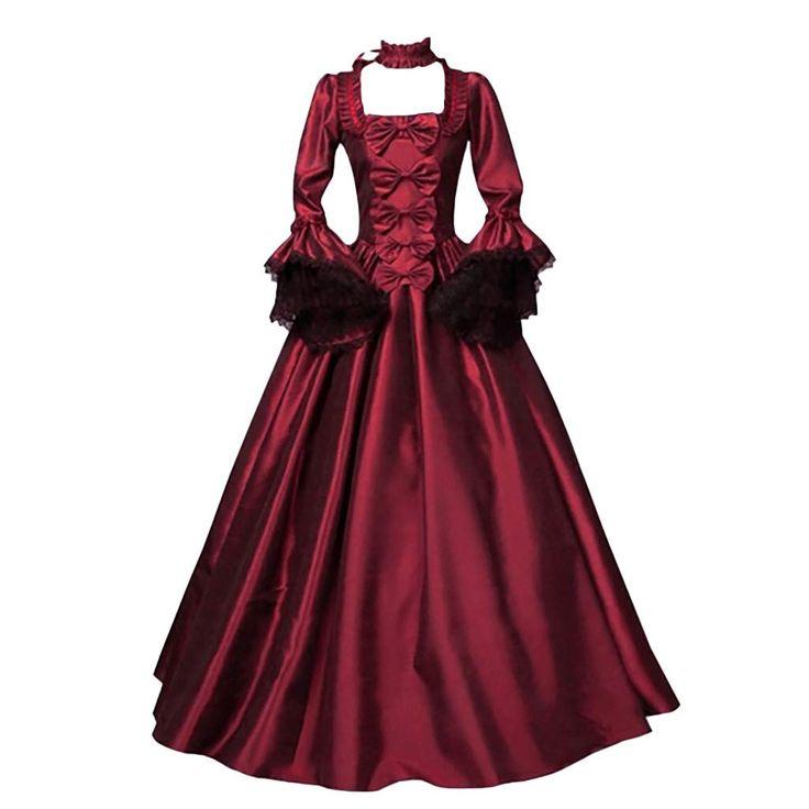 women medieval dress renaissance vintage gothic dress retro