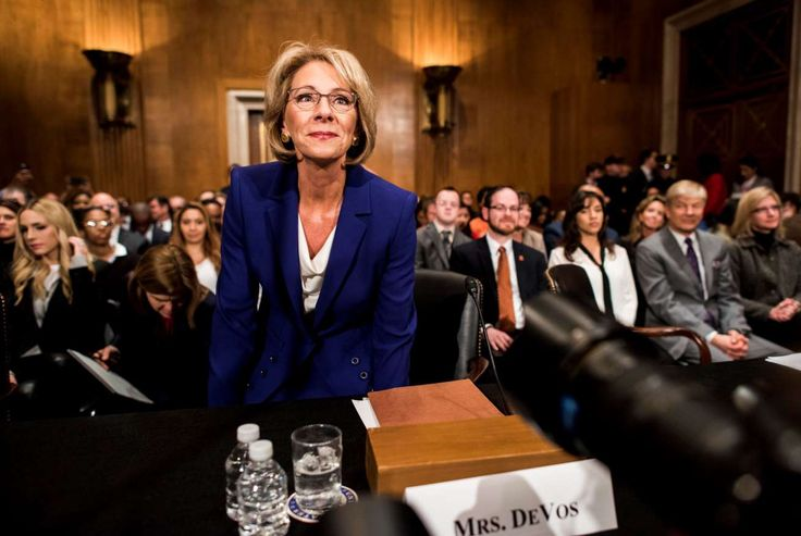Senate panel votes in favor of Betsy DeVos, Trump's education secretary pick:  January 31, 2017  -     President Trump's nominee for secretary of education, Betsy DeVos, appears before the Senate Health, Education, Labor and Pensions Committee for her confirmation hearing on Capitol Hill.
