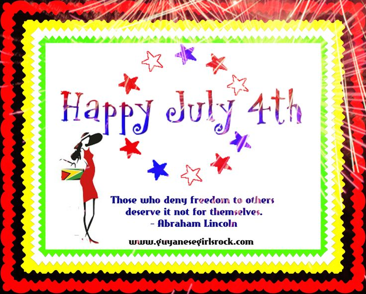 Happy Independence Day USA!  http://guyanesegirlsrock.com/happy-independence-day-usa/
