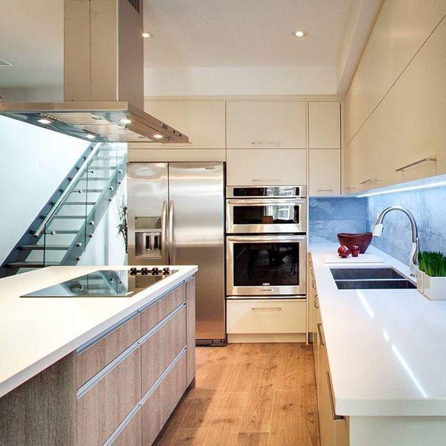 elevate your kitchen with an unexpected backsplash pinova studio chooses concrete for this often tile white - White Countertops
