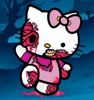 How to Draw Zombie Hello Kitty, Zombie Hello Kitty, Step by Step, Zombies, Monsters, FREE Online Drawing Tutorial, Added by Dawn, October 1, 2011, 10:20:53 pm