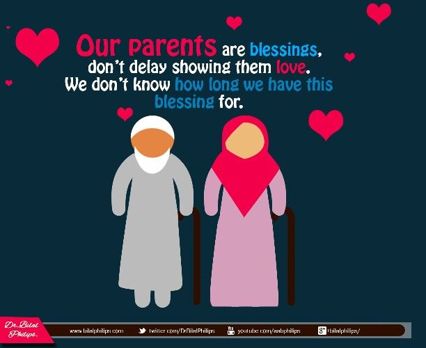 parents in islam Yes, allah عز و جل punishes and rewards both in this life and in the hereafter the  children for deeds committed by their parents, and punishes.