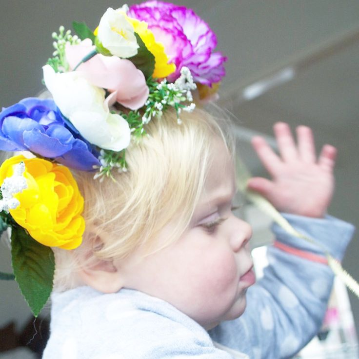 One of these large floral crowns left. Love the way they look on a little bubba (especially mine!)
