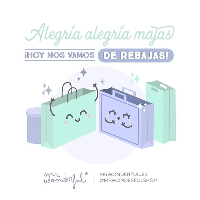 ¿Quién se apunta a una tarde de rebajas? #mrwonderfulshop  Be happy, hopeful, joyful and gay, for now the sales are underway! Anyone fancy an afternoon of shopping in the sales?