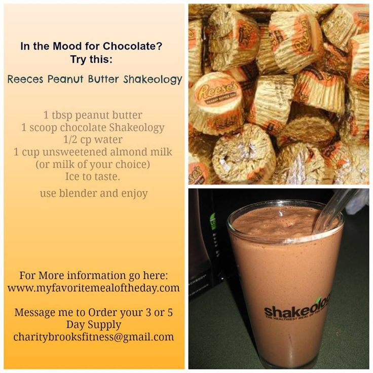 This is my favorite recipe.    Questions?  Just ask me.   www.myshakeology.com/EMILEEEK