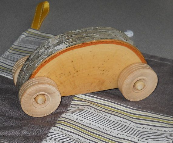 Wooden Car Large Birchmobile Natural Toy
