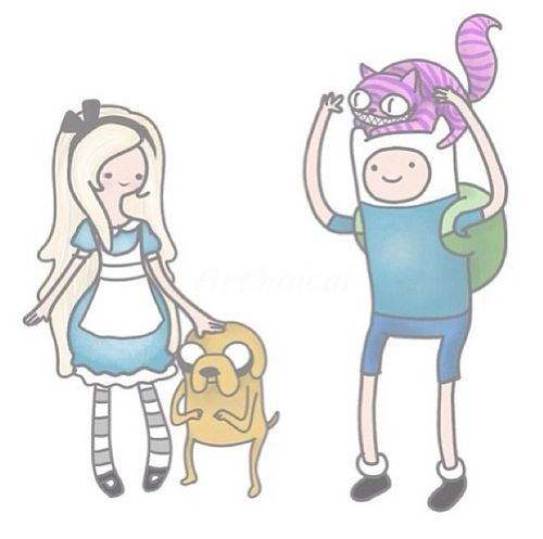 Disney's Alice in Wonderland and Adventure Time crossover