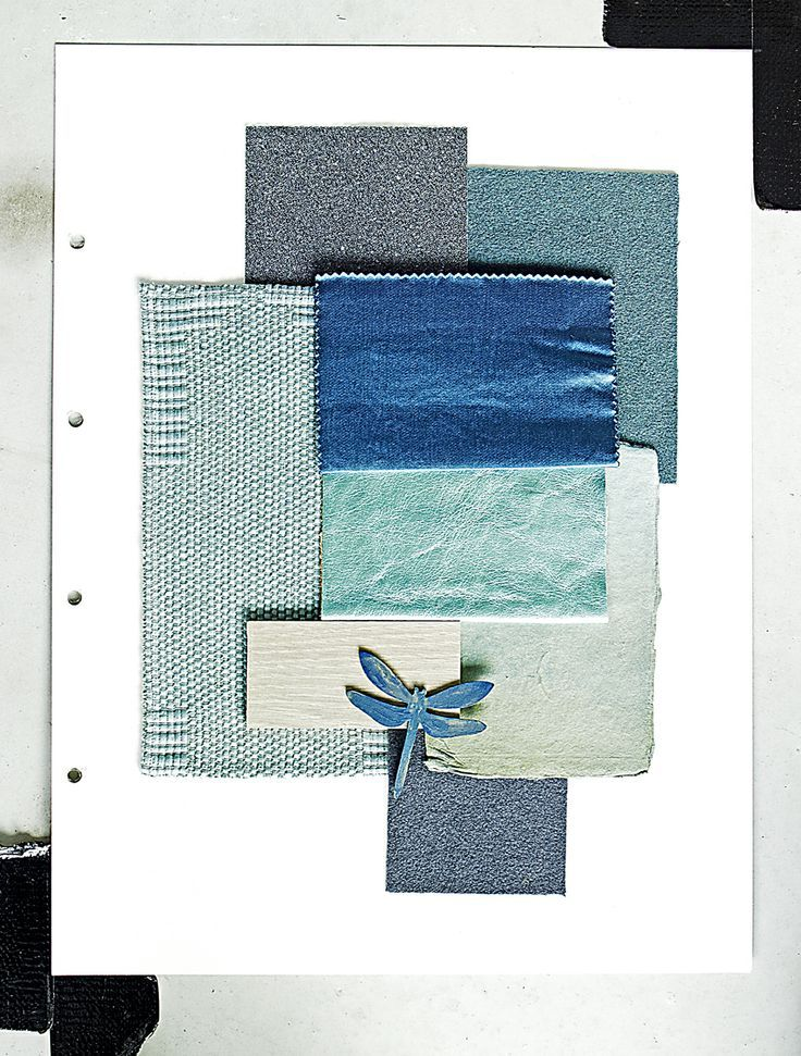 Piet Boon Styling by Karin Meyn   Composition of blue materials.