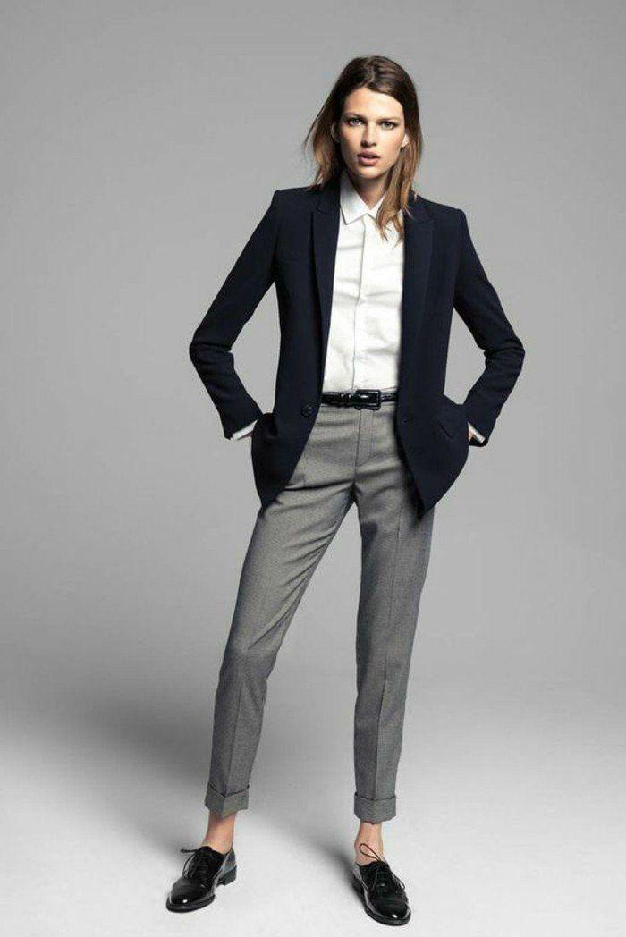 Veste blazer gris clair femme