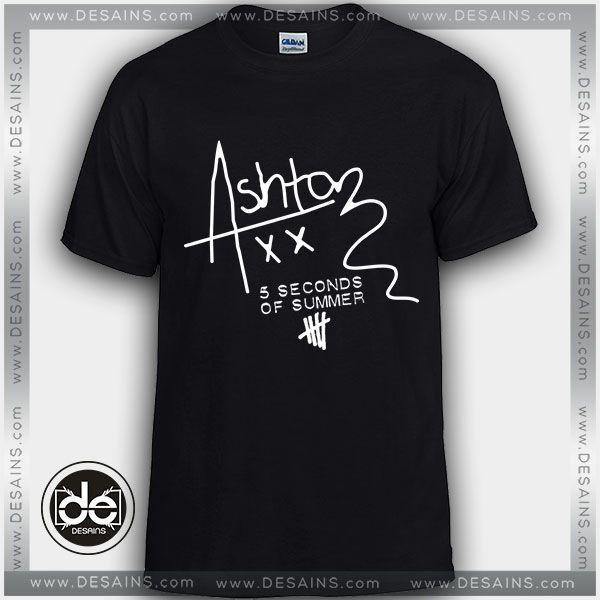 Buy Tshirt Ashton Irwin Signature 5SOS Tshirt Print Womens Mens Size S-3XL //Price: $12 Gift Custom Tee Shirt Dress //     #Desains #Tees #Shirt #Dress