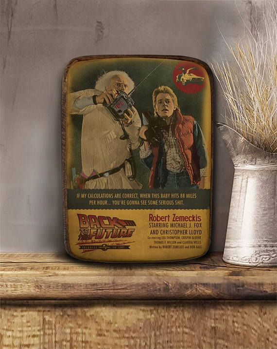 Back to the future Robert Zemeckis Wooden hanging frame