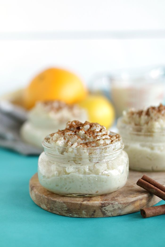 A creamy dreamy healthy rice pudding made with soy milk and honey to make it both dairy free and sugar free.