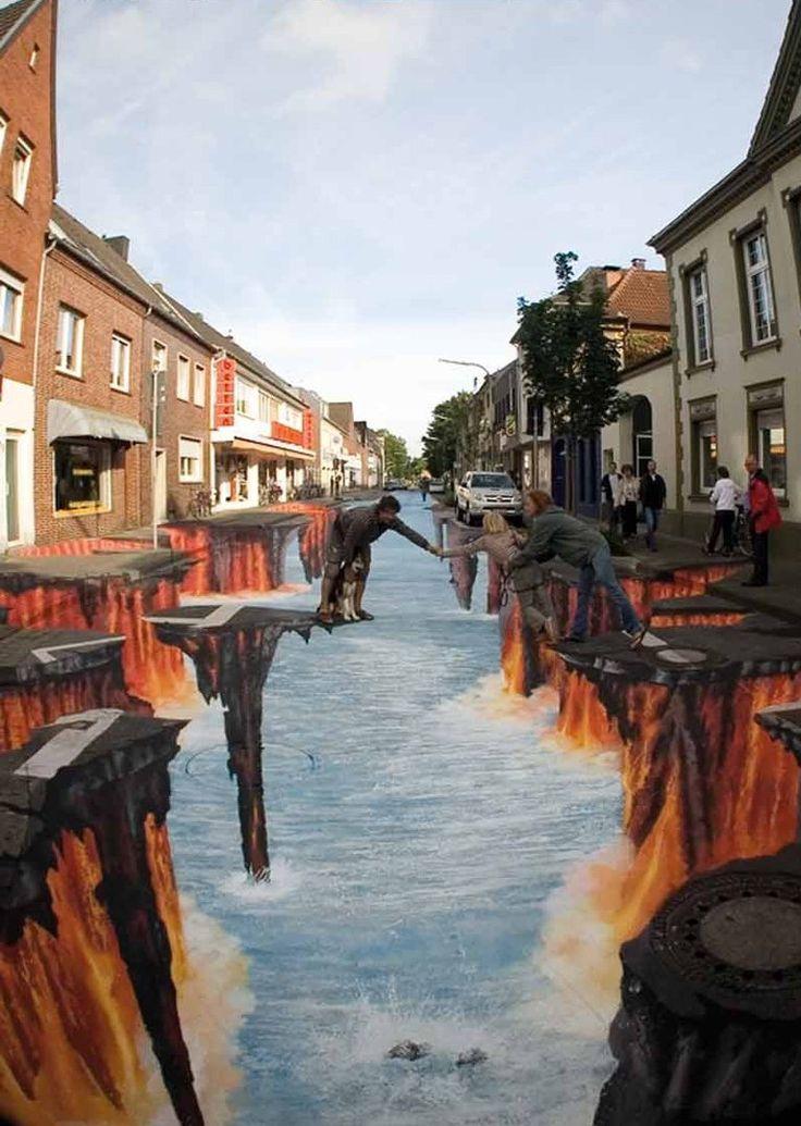 стрит - арт; художник из Германии Эдгар Мюллер