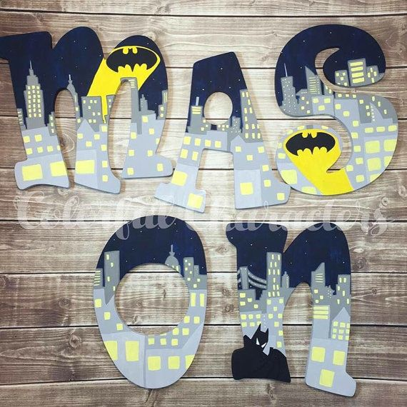 Comic Book Inspired Batman Themed Wooden By