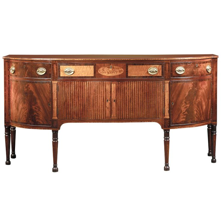"John and Thomas Seymour Sideboard I like the ""flaming"" here instead of inlay!  Send to Patti"