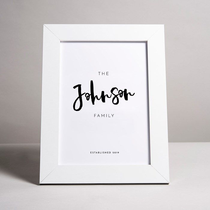 Personalised Framed Print The Family Personalized Prints Personalised Prints Framed Prints