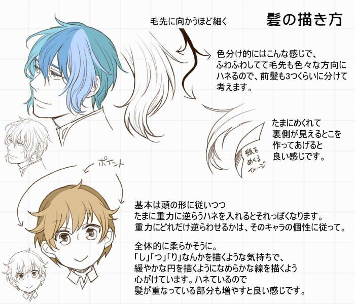髪の描き方 [6]