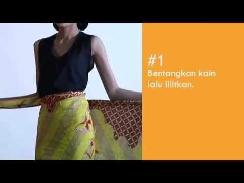 Cara Memakai Kain Batik Gaya Draperi | Tips Busana Nova - YouTube