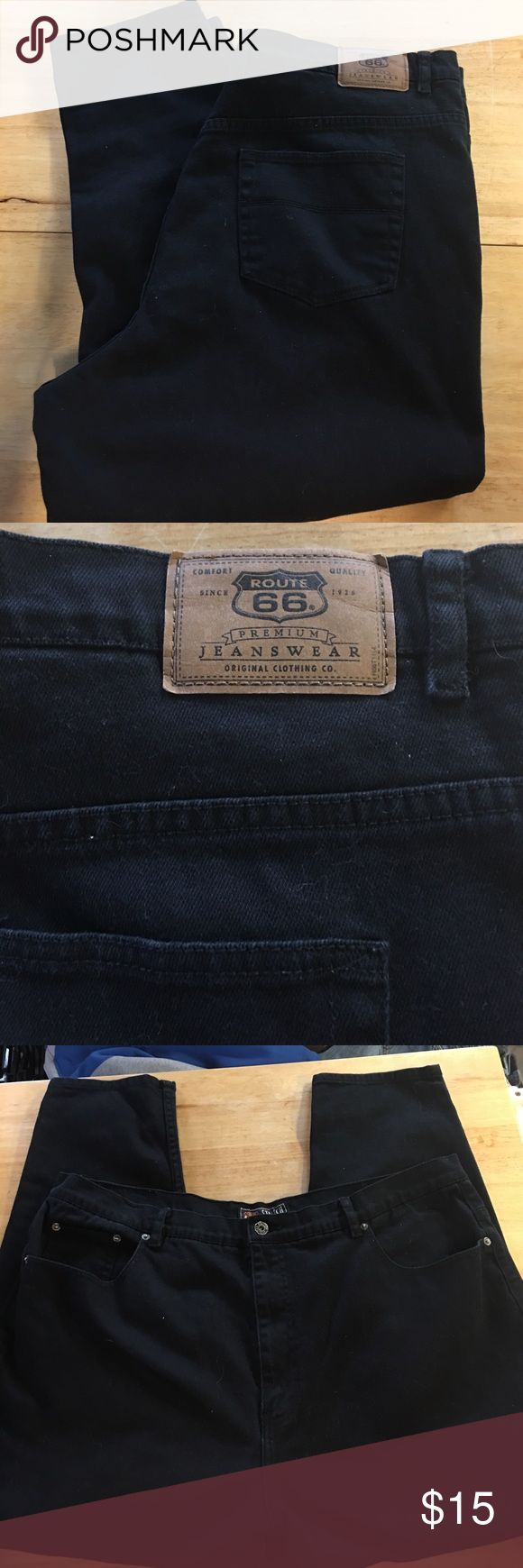 Route 66 Stretch Jeans 26P Route 66 Stretch Jeans 26Petite. Slim leg style in stretch jean material. Back pockets and zip/button closure. In excellent condition! Route 66 Jeans Straight Leg