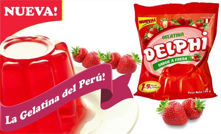 #LaGelatinadelPeru #ProductosDelphi #Postresenpolvo #Gelatinafresa   Productos Delphi - La Gelatina del Perú, disfrútala en sabor fresa.  Pedidos, teléfonos fijo 576-4892 móvil 999-090-503   ventas@productosdelphi.com    @ProductosDelphi Ventas a nivel nacional - Producto Peruano Distribución y pedidos a nivel nacional - Producto Peruano https://www.google.com/maps/d/viewer?mid=1pB6qWYrZQ6_BKwS9VWNb2hBeCyE&ll=-12.09675064245161%2C-76.9579195&z=11