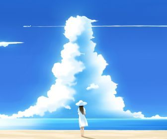to download or set this free beaches clouds lonely skyscapes as the desktop background image for