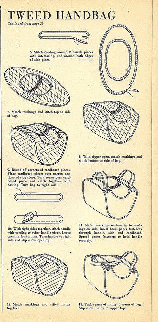 Vintage Tweed Handbag with FREE Sewing Pattern and Tutorial - Part 2