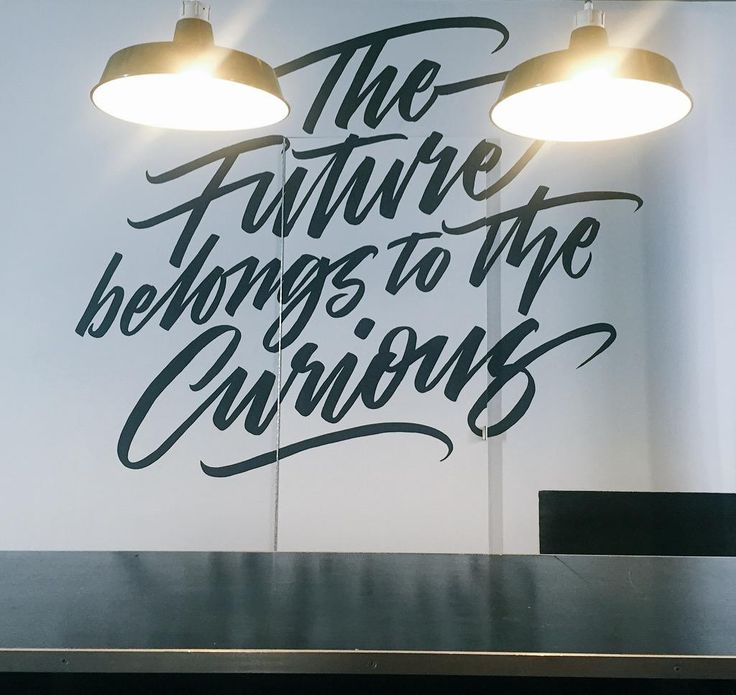 Best 25 office mural ideas on pinterest for Mural lettering