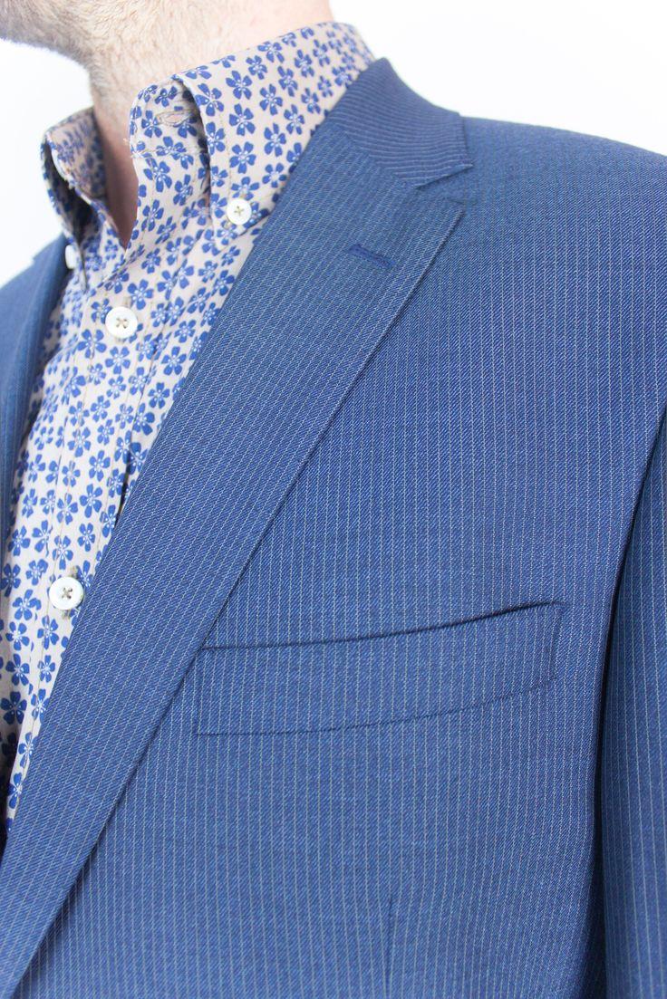 Denim Pin Wool Suit