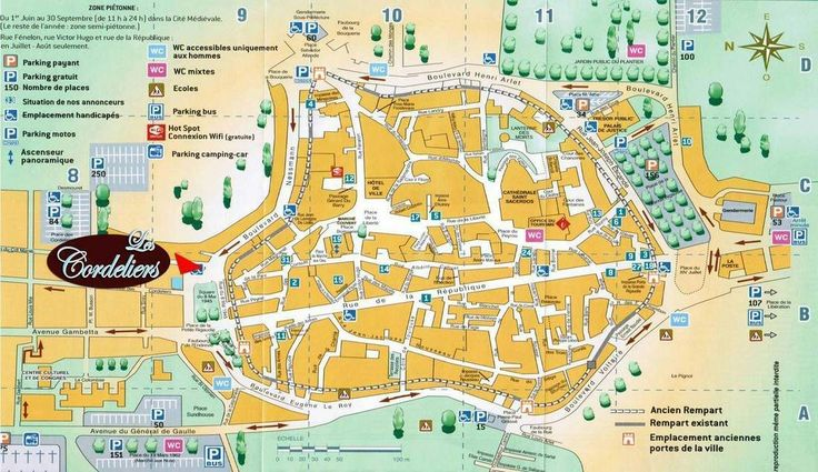 market sarlat map - Google Search | Map, Trip, Places to go
