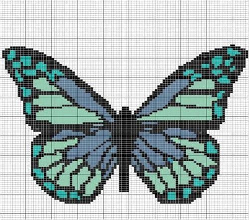 Beaded Butterfly PATTERN loom