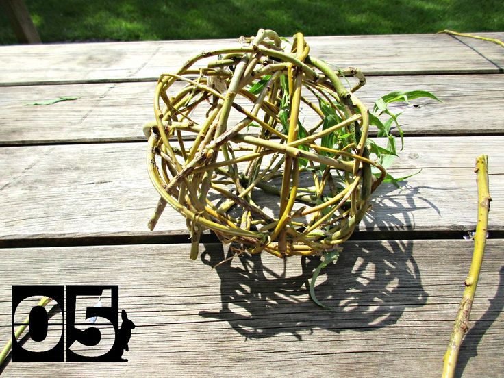 Day 05 #30DaysWild - Making Willow Balls
