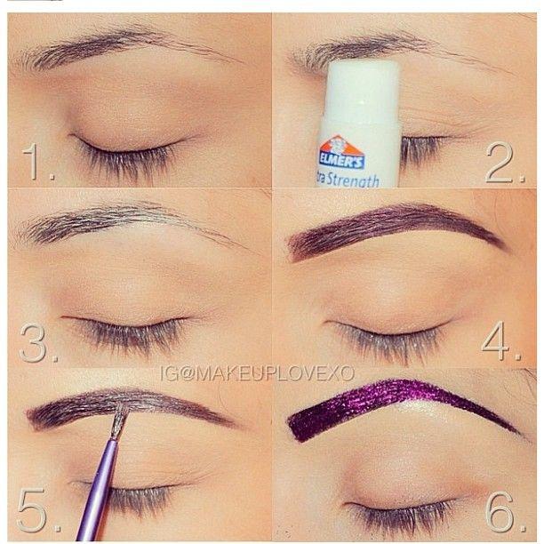 Cute idea for costume make up! Glitter #brows
