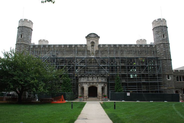 Superior Scaffold was called out once again to Bryn Mawr College, this time to the venerable M. Carey Thomas Library, to provide crews access to the entire façade.  #scaffolding#scaffold#rent#rental#rents#masonry#construction#philadelphia#newjersey#de#md