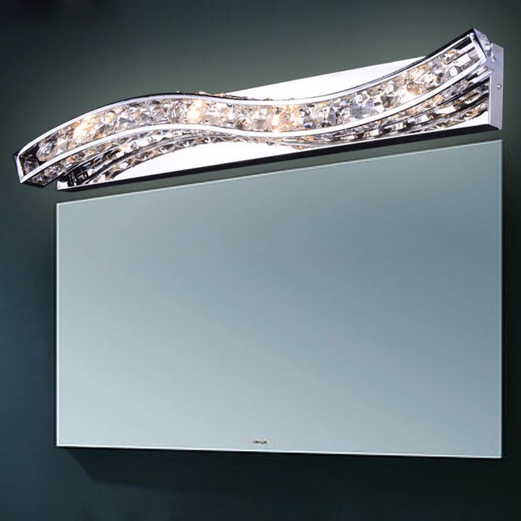 Modern 4-Light Crystal Wall Sconce Polished Chrome Lighting L& Home Decor NEW #NewBrand & 31 best Wall Lights / Sconce images on Pinterest | Wall lights ... azcodes.com