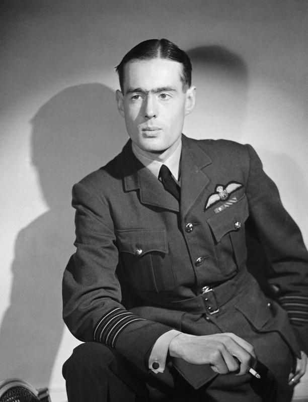 Group Captain Leonard Cheshire VC RAF, the British observer for the dropping of the second atom bomb on Nagasaki 9 August 1945 and the former commander of No 617 Squadron (Dambusters), Royal Air Force.