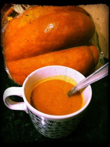 Recette facile et originale de la soupe rustique / velouté de potiron et de châtaignes