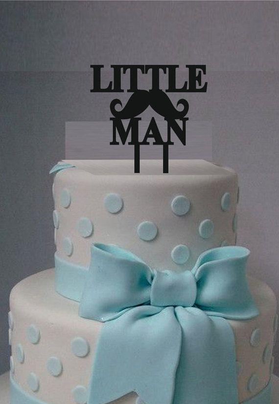 Little Man Cake Topper, Acrylic Laser Cut Cake Topper, Baby Shower Cake  Topper,