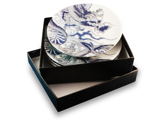 Irezumi Set of 4 Side Plates by Ink Dish by: Ink Dishes, Irezumi Side, Side Plates, Irezumi Sets, Plates Sets, Dishes Gifts, Artisandesign Tabletop, Irezumi4Sideplatesetjpg 900900, Irezumi Plates