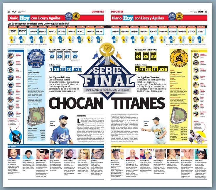 Mi doble página de hoy en la sección de Deportes del periódico Hoy. Arranca la serie final.