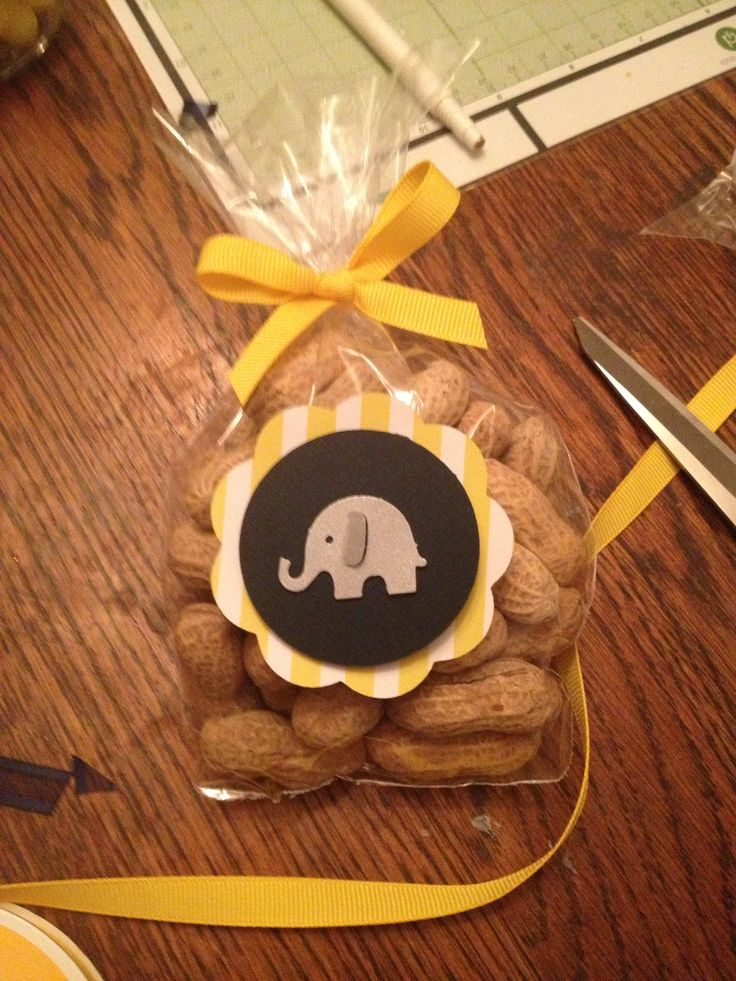 Baby Shower Favors For The New Baby Boy. Elephant Theme. Little Peanut  Favors